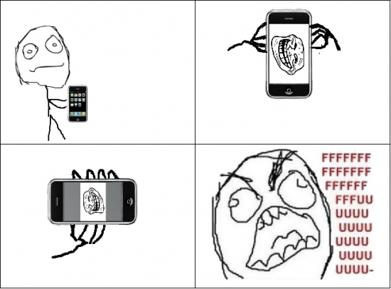 Ffffuuuuuuuuuu - La pantalla troll de tu smartphone