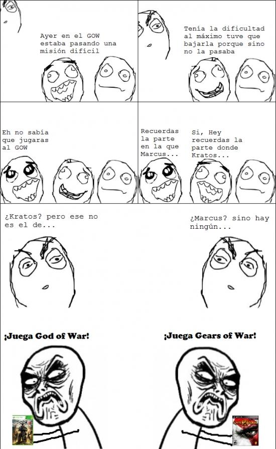 gears of war,god of war,infinito desprecio,kratos,marcus,videojuegos
