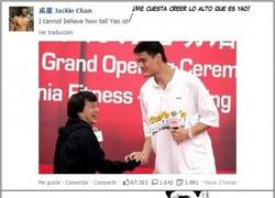 Enlace a Encuentro épico entre Jackie Chan y Yao Ming
