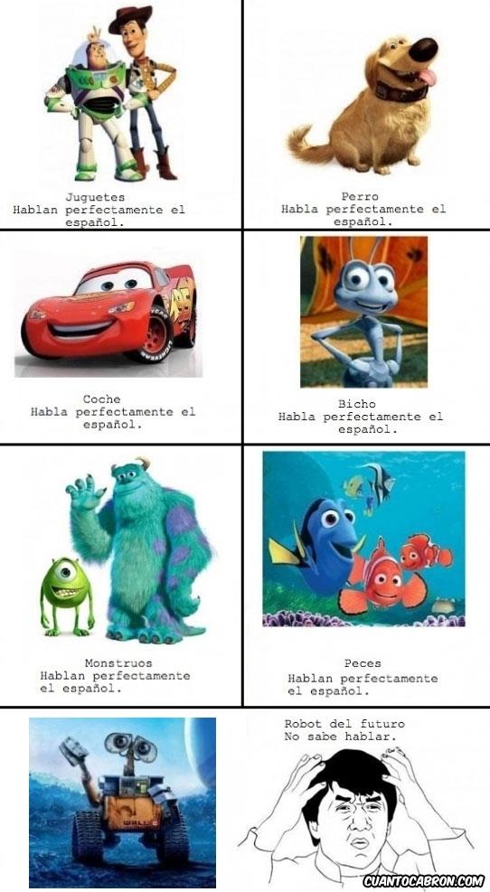 coche,hablan,hormiga,juguetes,mounstros,peces,perro,ratón,robot del futuro