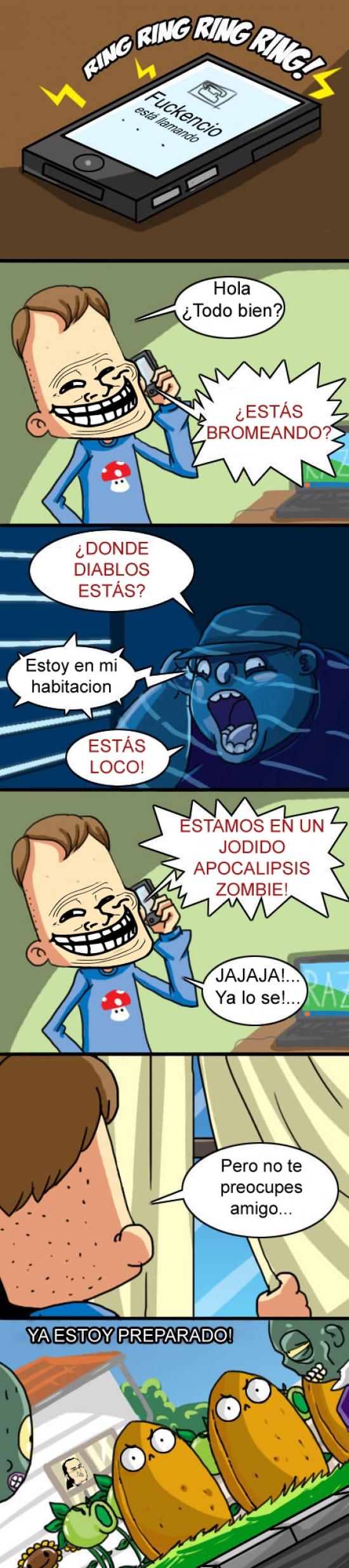 Apocalipsis,Friki,Plants Vs. Zombies,Troll,videojuego