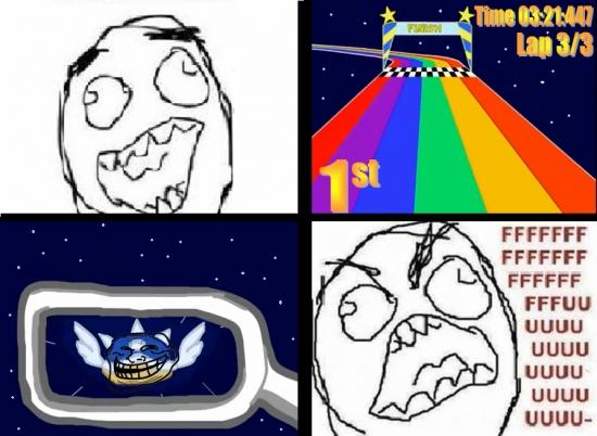 caparazon azul,carrera,final,Mario kart,retrovisor,volador