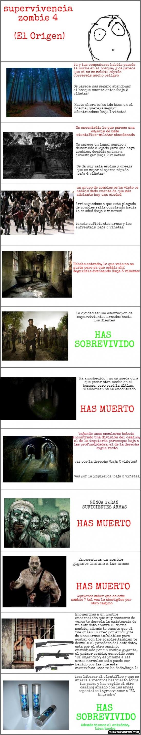 antidoto,armas,azul,científico,comic interactivo,el engendro,poblado,zombie
