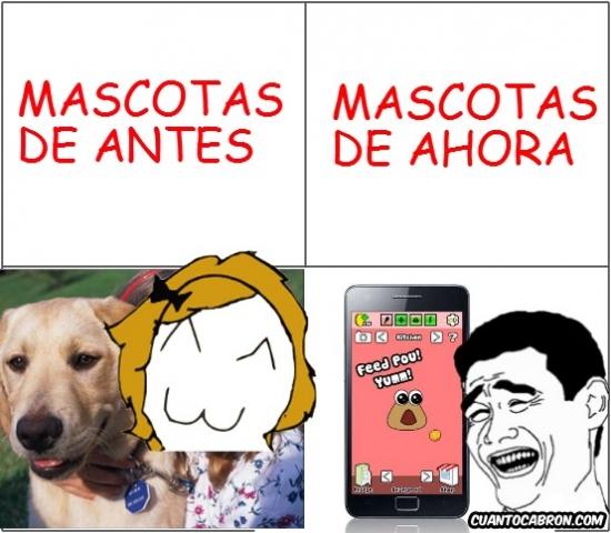 ahora,antes,mascotas,movil,perro,persona,pou,smartphone
