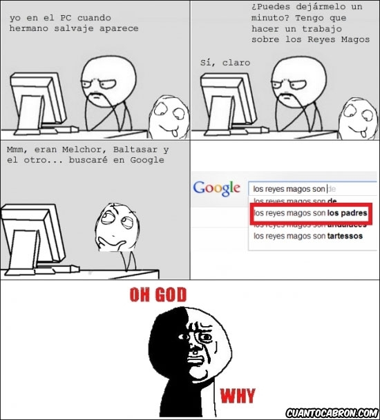 buscador,google,oh god why,reyes magos