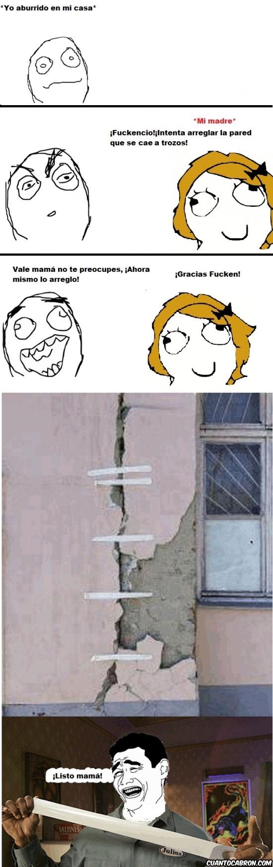 Yao - Arreglando la pared
