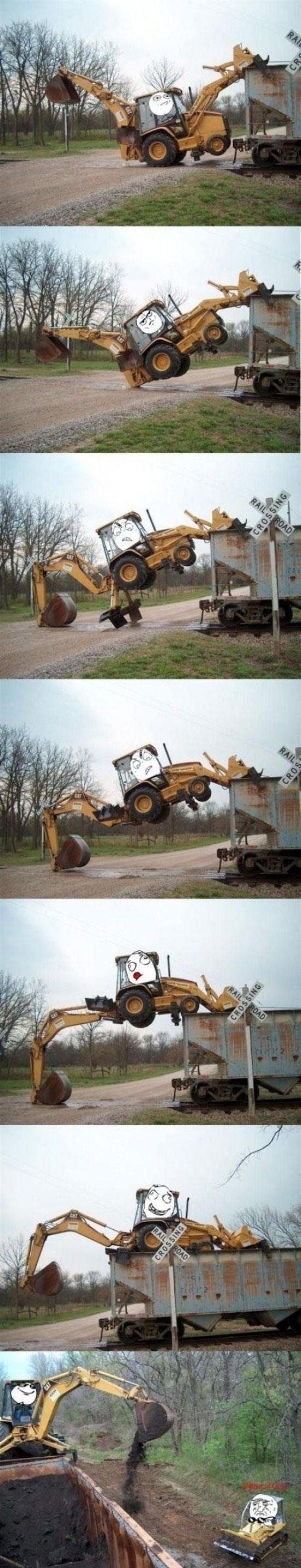 excavadora,grua,habilidad,operario,subir,trailer,trepar