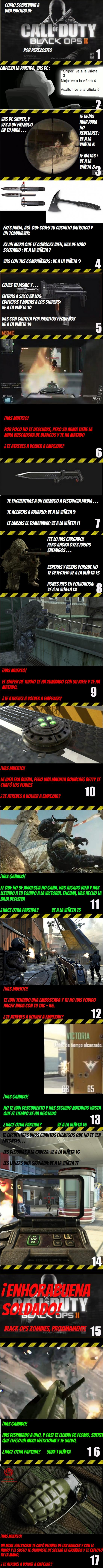 Otros - Cómo ganar una partida de Black Ops II [Cómic interactivo]