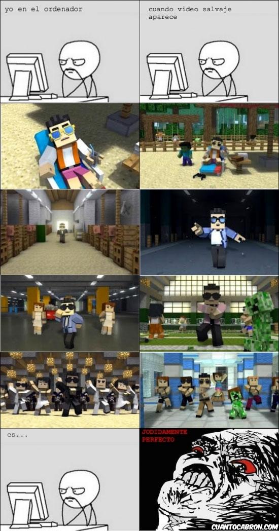 gangnam style,homenaje,minecraft,parodia,psy,videoclip