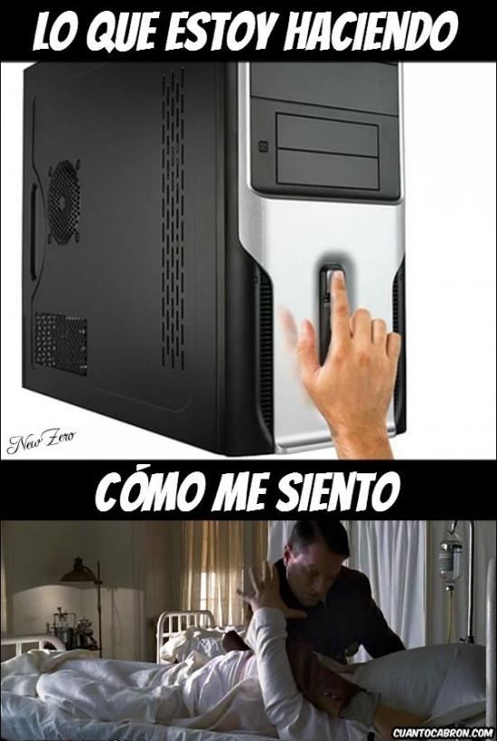 Otros - Cuando apagas el ordenador manteniendo apretado el botón Power