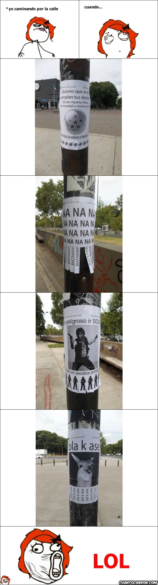 Lol - No pararé hasta encontrar esta calle
