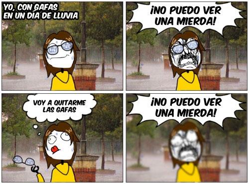 Ffffuuuuuuuuuu - Días de lluvia + gafas = FAIL SEGURO