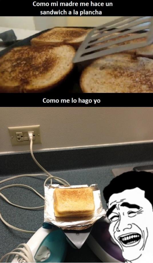 hijo,madre,plancha,sandwich,sandwich a la plancha
