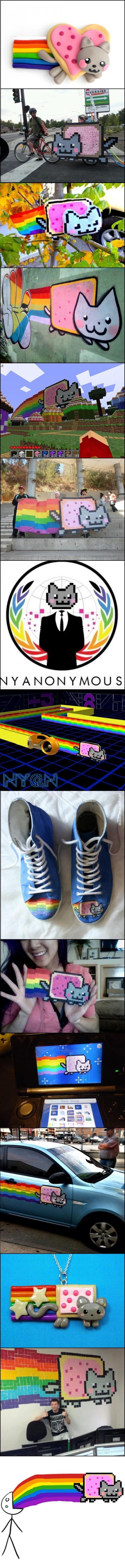 nyan,nyan cat,puke rainbows
