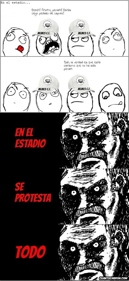 arbitro,estadio,futbol,insultar,mirada fija,protestar