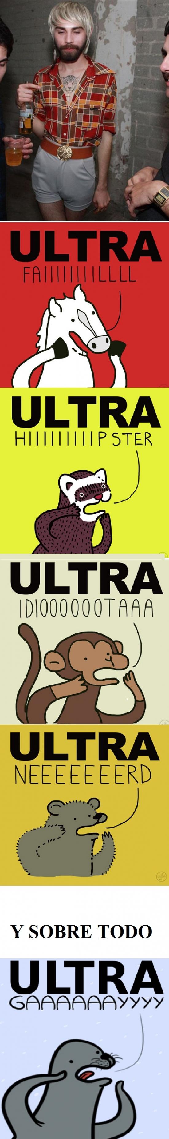 caballo,fail,hipster,homofobo,homophobic seal,idiota,mapache,mono,nerd,oso,ultra