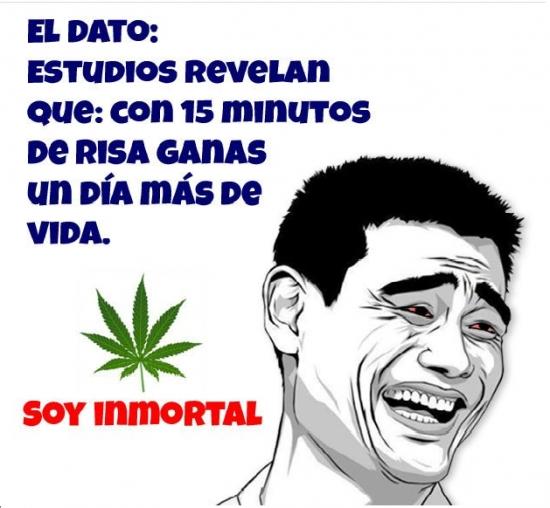 15 minutos de risa,inmortalidad,marihuana,risa,un día más de vida