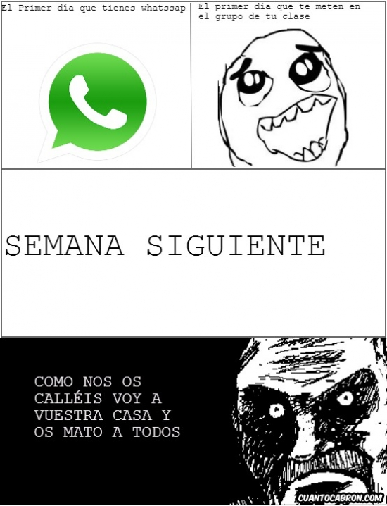 Mirada_fija - Los grupos del whatsapp los carga el diablo