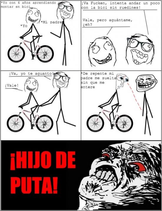 aguantar,aprender,bici,bicicleta,ruedas,ruedecitas,ruedines,troll