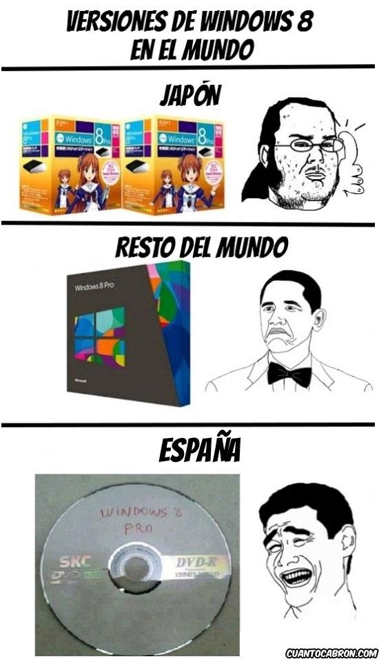 Yao - Versiones de Windows 8 en el mundo