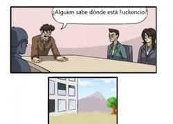 Enlace a Fuckencio llega tarde a la reunión