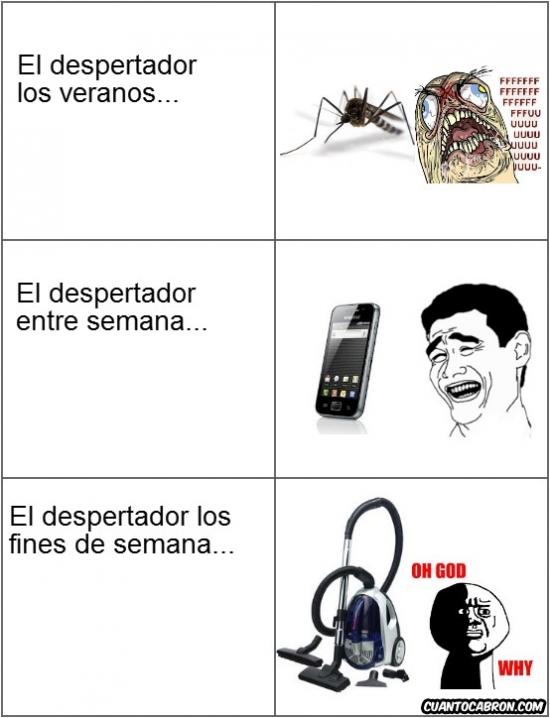 aspiradora,despertadores,mosquito,móvil,verano