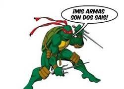 Enlace a Cada tortuga ninja con su arma