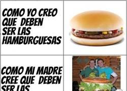 Enlace a El relativo tamaño de las hamburguesas
