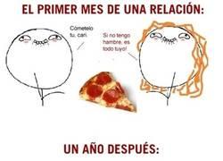 Enlace a Pizzas acabando con relaciones desde tiempos inmemoriales