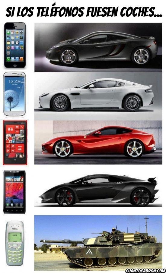 Otros - Si los teléfonos fuesen coches...