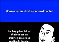 Enlace a ¿Desea iniciar Windows normalmente?