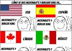 Enlace a McDonald´s y Burger King around the world