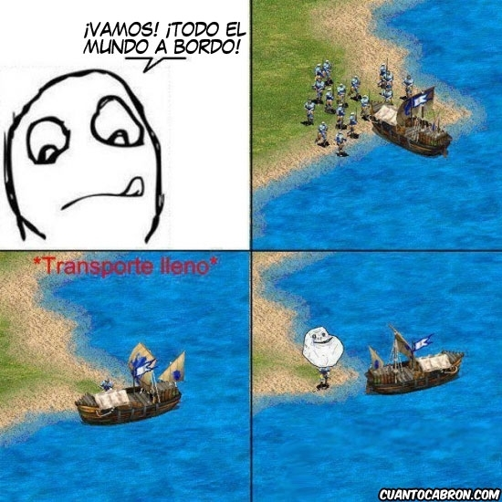 Forever_alone - Transportando unidades en el Age of Empires