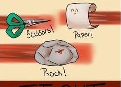 Enlace a Piedra, papel, tijera ¿el papel gana a la piedra? fuck logic!