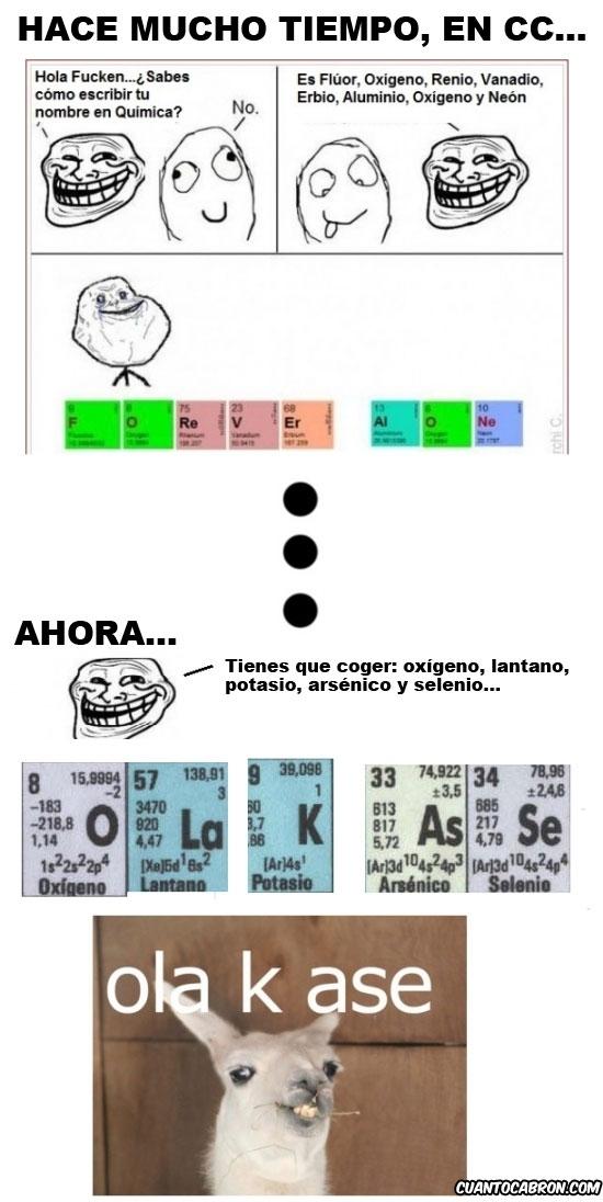 forever alone,ola k ase,tabla periodica,troll,trollface