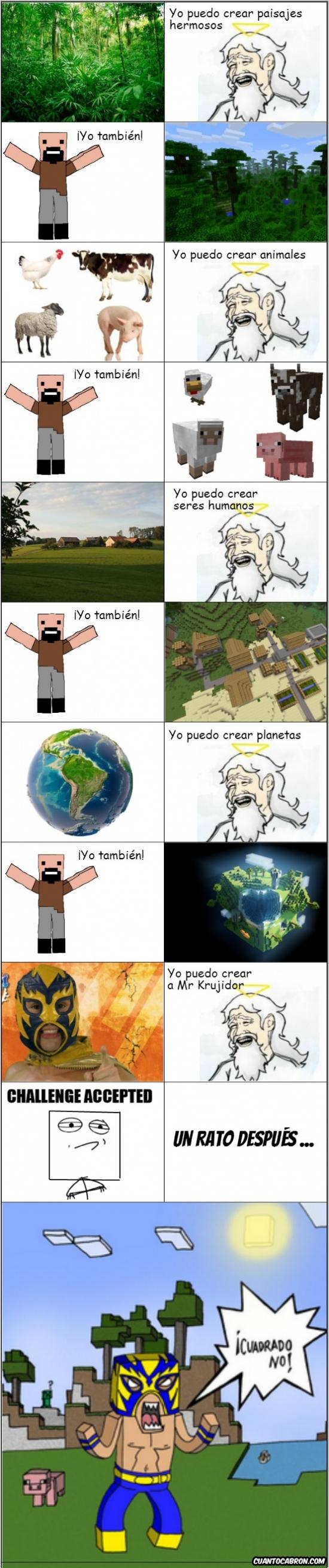 Crear,Dios,Minecraft,Mr Krujidor,Notch