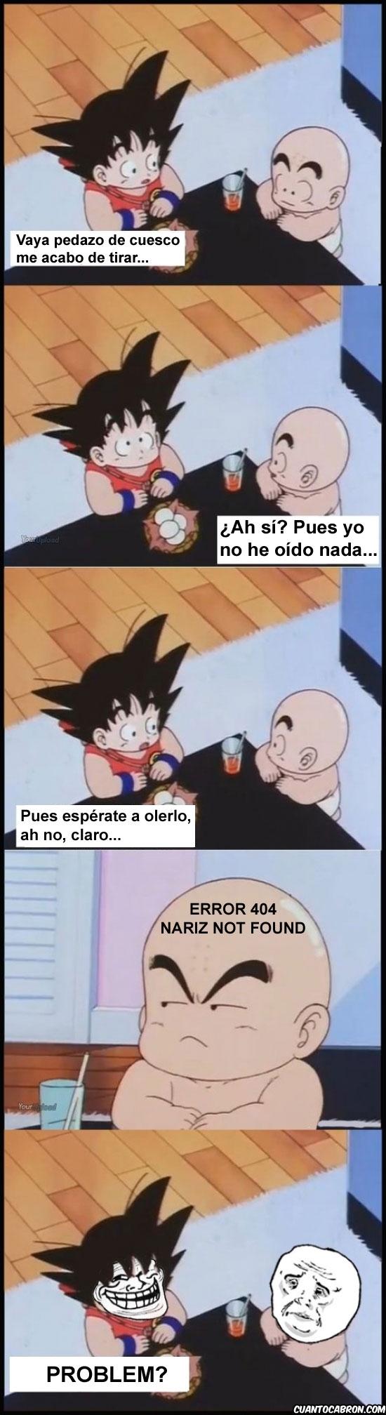 Trollface - Goku trolleando desde pequeño