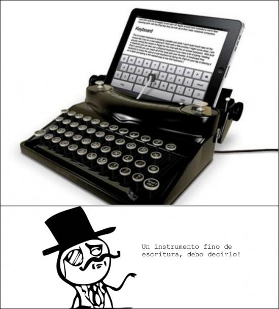 feel like a sir,instrumento de escritura,maquina de escribir,sombrero de copa,tablet