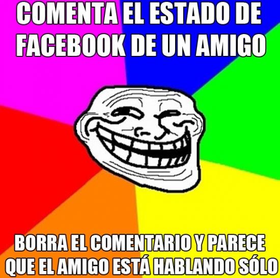 Meme_trollface - ¿Quieres trolear el Facebook de tus colegas?