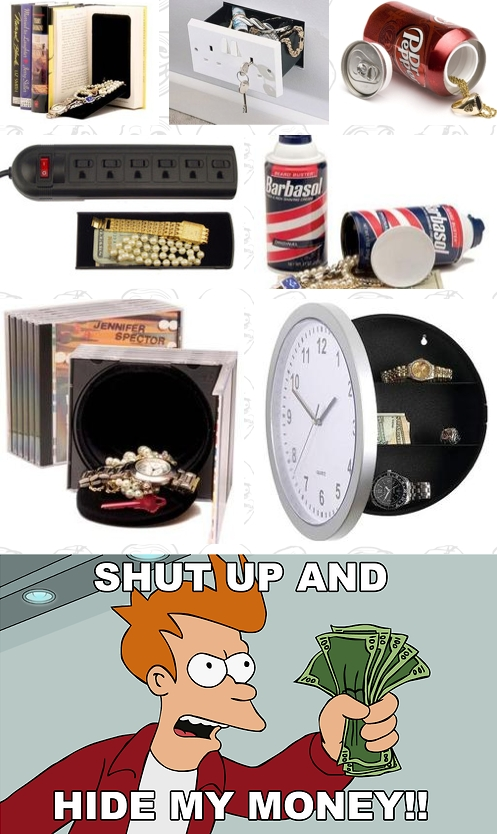 Fry - Shut up and HIDE my money