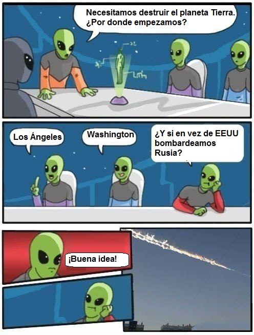 aliens,Cheliábinsk,Estados Unidos,junta de accionistas,meteoritos,Rusia