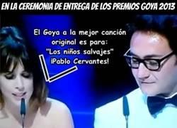Enlace a Error en los premios Goya 2013