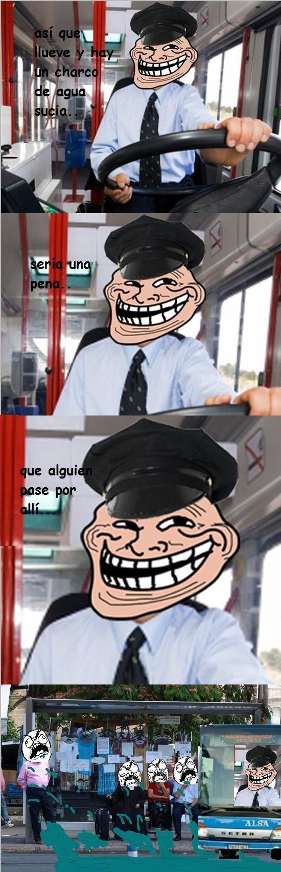 Trollface - Conductores troll de autobús