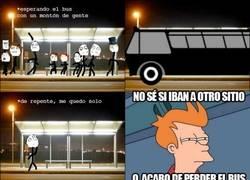 Enlace a La indecisión de la parada del bus