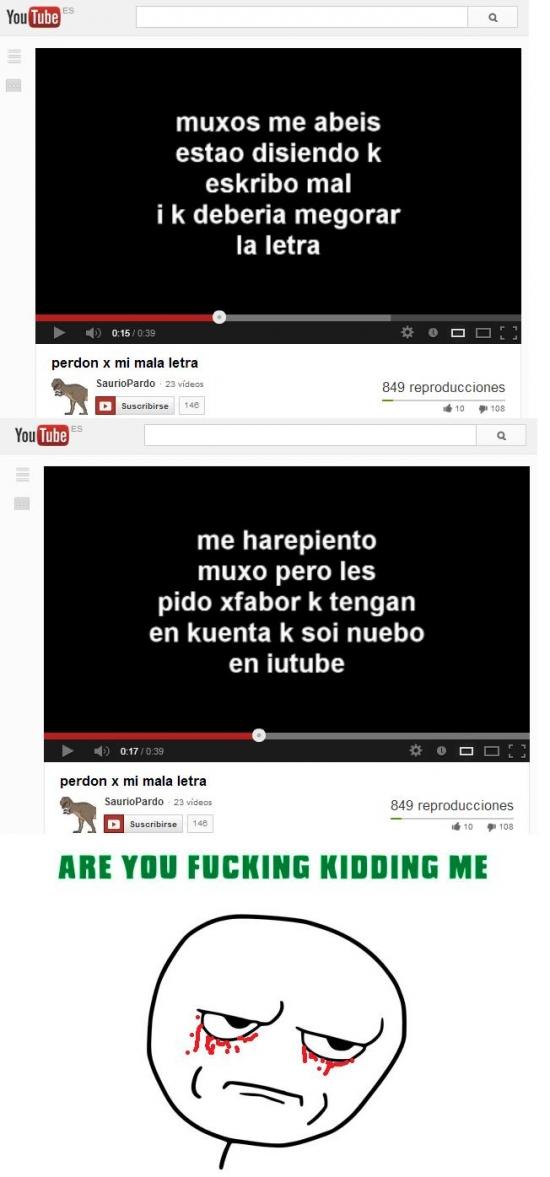 Kidding_me - Ortografía en YouTube