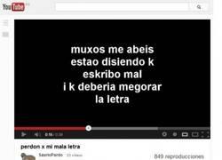 Enlace a Ortografía en YouTube