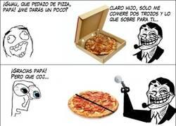 Enlace a Dos trozos de pizza