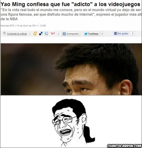 Yao - Detrás de Yao Ming, hay un friki