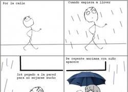 Enlace a Paraguas con alergia al agua