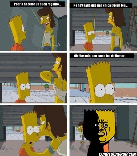 Oh_god_why - Sólo Bart podía traumarse así con algo tan bonito